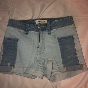colorblock pacsun jean shorts!!! NEVER WORN